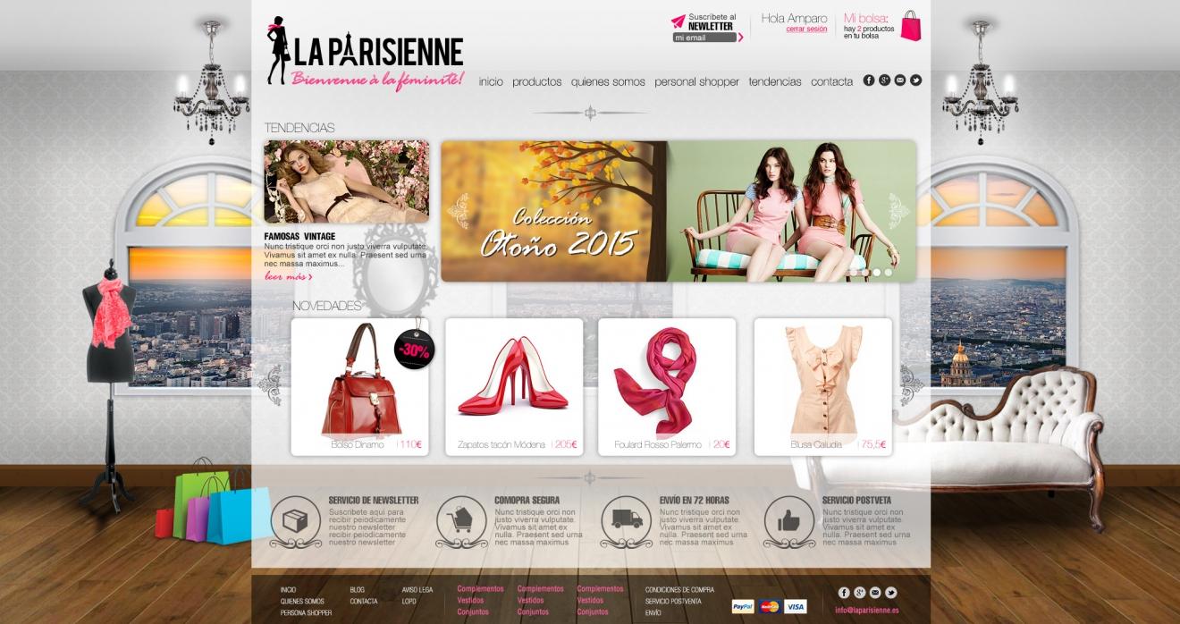 Diseño tienda on line La Parisienne