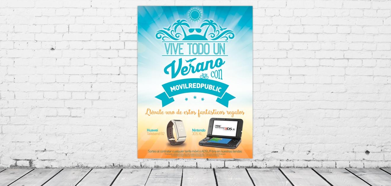 Cartel publicitario franquicias Movilredpublic