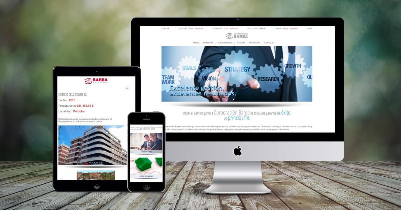 Web de Corporación Barea