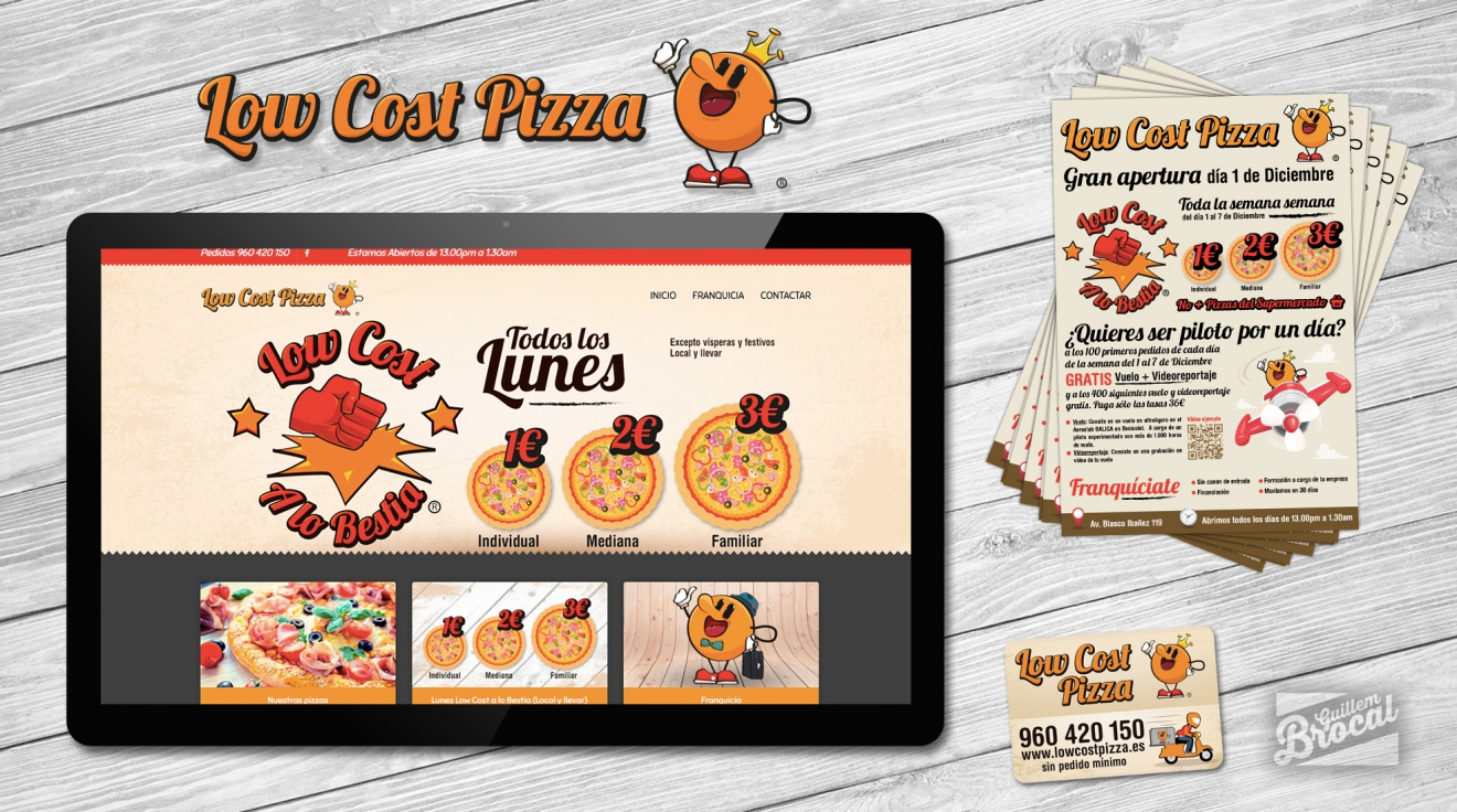Campaña Branding Low Cost Pizza