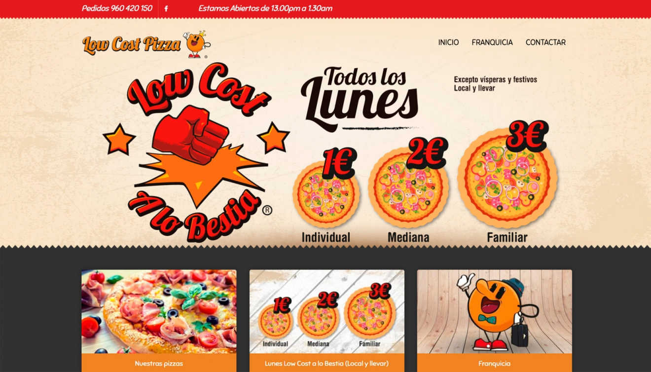 Web Low Cost Pizza